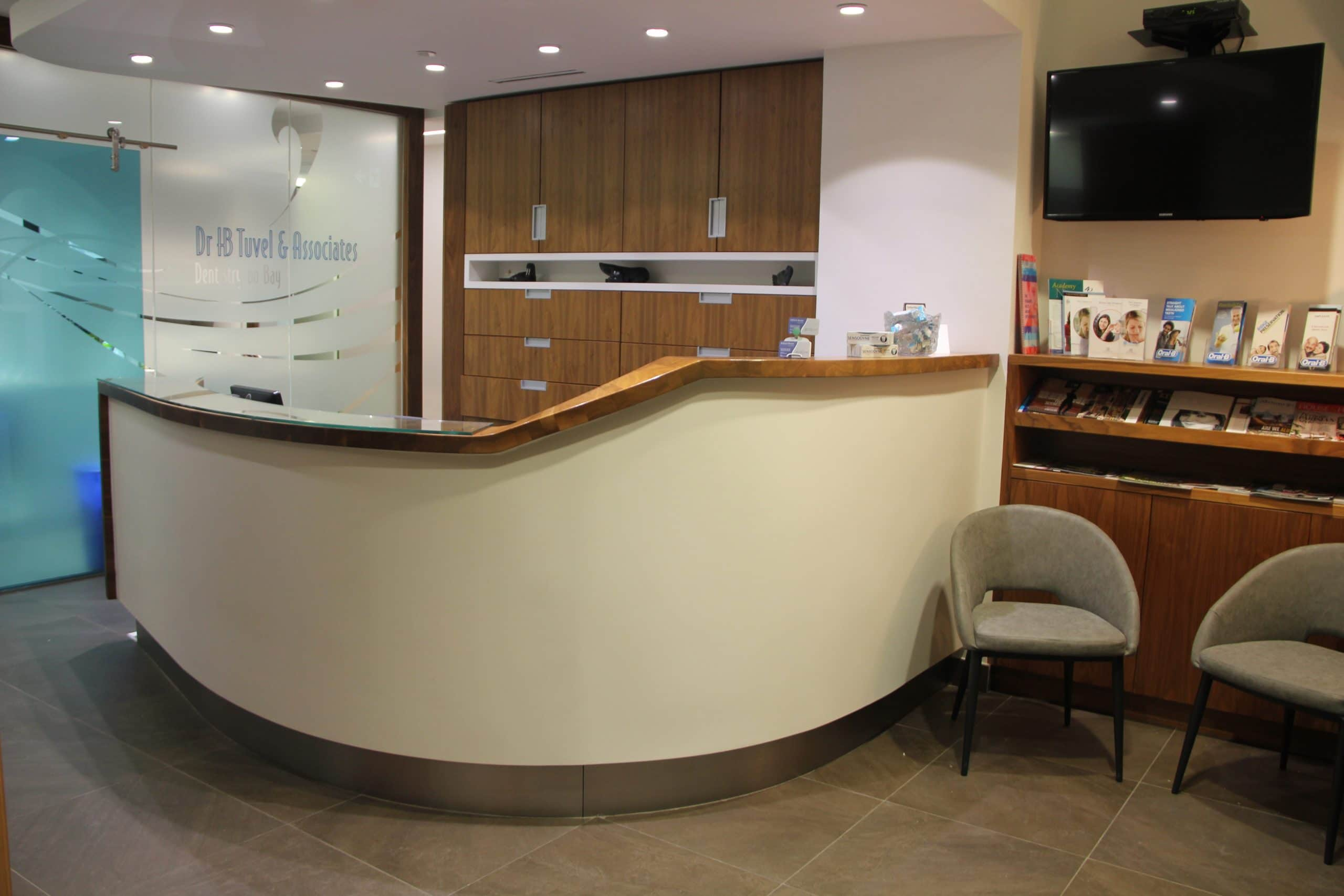 Dentistry on bay front desk
