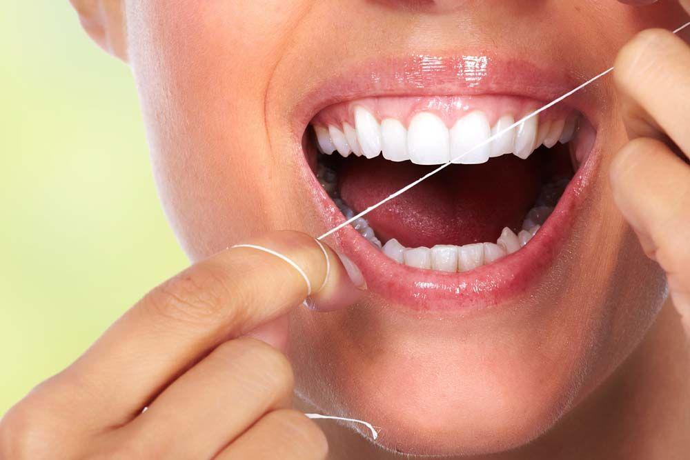 Teeth with floss